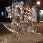 Holiday Hoopla Concludes This Week with Ice Carving, Santa Beards and Movie Magic