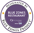 Blue Zones Restaurant Designation Seal
